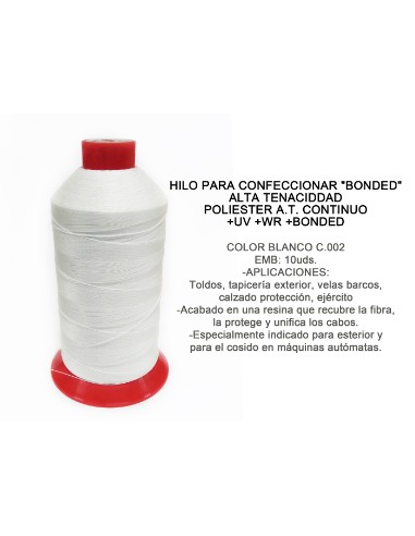 HILO BOND POLI T-30 5000M BLANCO TOP CA