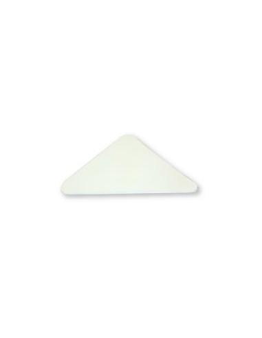 REFUERZO TRIANGULO PVC 100MM BLANCO