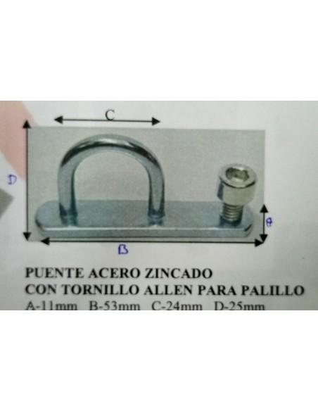 PUENTE ACERO ZINCADO CON TORNILLO<