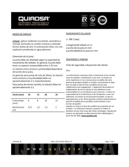 SILICONA *NEUTRA* TRANSLUCIDA SUPRASELL 280ml