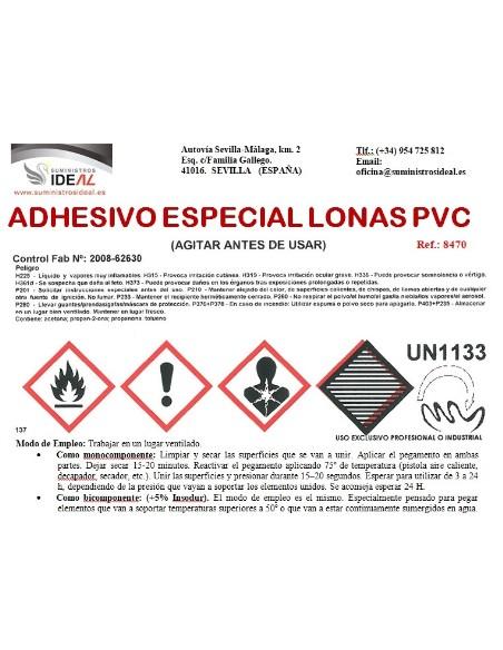 ADHESIVO REPARADOR TOLDO PEGAMENTO ESPECIAL TOLDOS LONAS PVC 1L<
